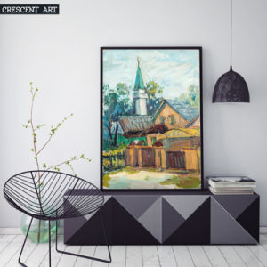 Canvas Prints of Watercolor Cartoon Houses pictures & photos