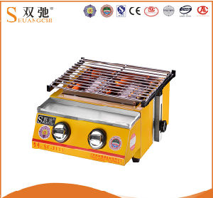 Professional Double Heads BBQ Gas Grill for Hot Sale pictures & photos