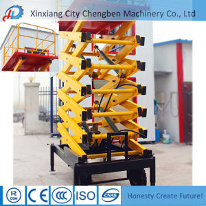 Movable 14m Lifting Electric Scissor Lift Aerial Work Platform for Sale pictures & photos