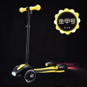 Fire Jet 3 Wheel Rockets Spray Toy Mini Kids Electric Kick Scooter (SZKS009) pictures & photos