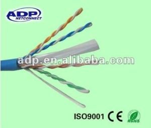 0.56mm 23AWG UTP CAT6 LAN Cable 4pr 305m with PE Shield pictures & photos