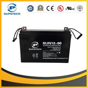 High Quality Solar Panels Storage 12V 90ah Lead Acid AGM Battery pictures & photos