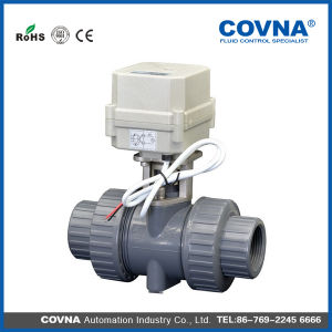 AC110V 1 Inch Hot Selling 2way Electric PVC Ball Valve pictures & photos