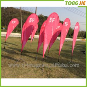 Customed Fiberglass Pole Teardrop Beach Feather Flying Flag pictures & photos