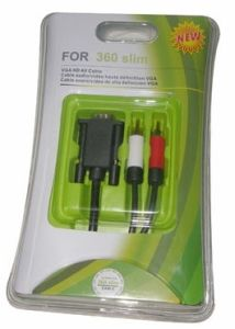 VGA With 2 RCA Cable for xBox360 Slim