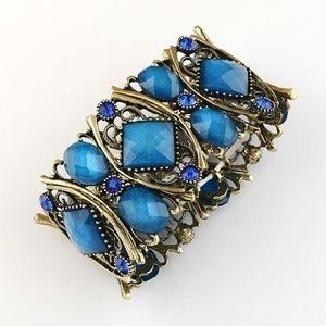 Wholesale Alloy Resin Stones Stretch Bracelet Fashion Jewelry Bracelet Bangle pictures & photos