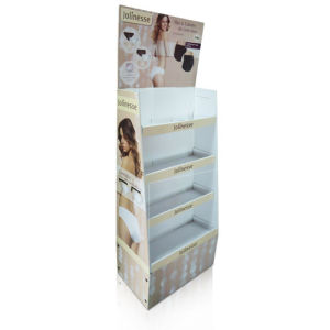 Customized Floor Display with 4 Shelves, Pop Cardboard Display, Cardboard Display Stand pictures & photos
