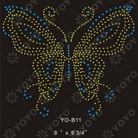 Heat Transfer Motif, Rhinestone Motif---Butterfly(YO-B005)