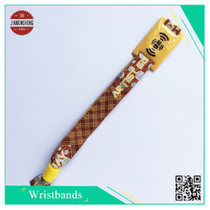 Promotion Event RFID Woven Wristband pictures & photos