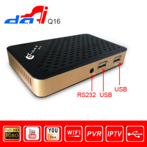 Mini Dvbs HD Satellite Receiver Q Sat Q16 with IPTV and Youtube