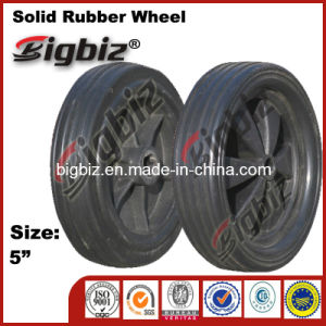 Qingdao High Quality Semi Pneumatic 5 Inch Swivel Rubber Caster Wheels pictures & photos