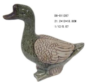 Garden Decoration Ceramic Duck Figurine (D8-011287)
