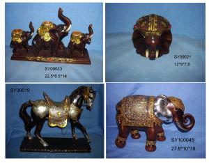 Polyresin Animal Elephant Statue, Polyresin Horse (SY)