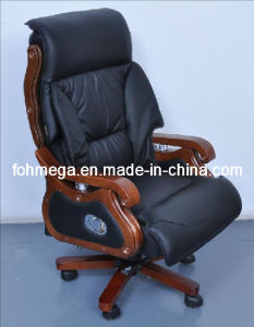 New Design Genuine Leather Swivel President Chair pictures & photos