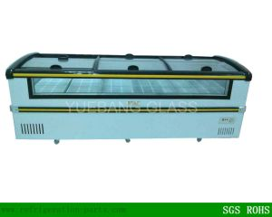 Island Freezer Sliding Glass Lid