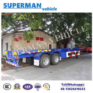 2 Axle 40FT Skeleton Frame Chassis Container Semi Trailer pictures & photos