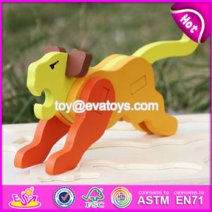 New Product Funny 3D Lion Wooden Animal Puzzles for Kids W14G042 pictures & photos