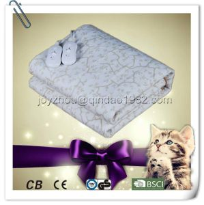 Fleece Polyester Electric Heated Blanket with Over Heat Protection pictures & photos