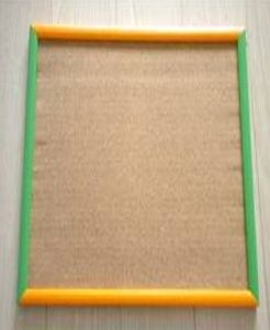 Cork Board with Colorful Wood Frame (WD0910)