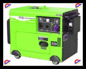 Diesel Electric Generator, Portable Diesel Generator (POK6700T))
