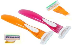 Disposable System Razor for Woman, Triple Disposable Razors