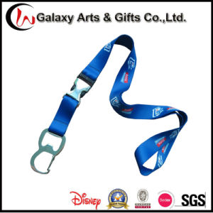Royal Blue Polyester Sublimation Lanyard with Bottle Opener pictures & photos