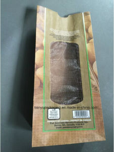 Flat Bottom Kraft Paper Bag for Vegetables Packaging pictures & photos