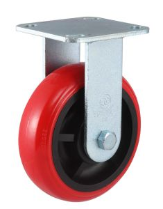 Fixed PU Heavy Duty Caster (Bright Red) pictures & photos