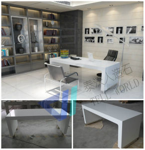 U Shape White Office Table/Manager Office Table pictures & photos