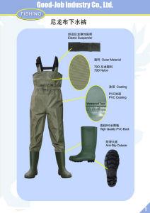 100% Waterproof Nylon PVC Coating Hip Wader