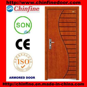 New Design Steel-Wood Armored Door (CF-M025) pictures & photos