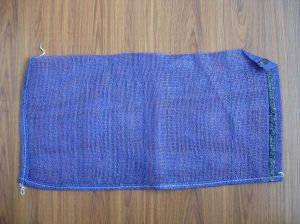 Blue Mesh Bag with Overlock Sewing pictures & photos