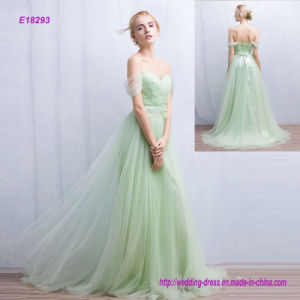 off Shoulder Backless Evening Ball Gown Bridesmaid Dress pictures & photos