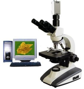 Trinocular Education Biological Microscope With CCD Camera With Visualisation System (BM-YYS-300E)