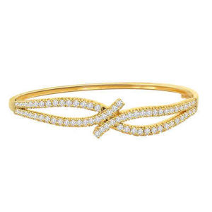 18k Gold Over 925 Silver Bracelets Jewelry with CZ pictures & photos