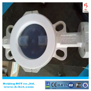 Best Quality, PTFE Seated Butterfly Valve with Double Acting Pneumatic Bct-F4bfv-14 pictures & photos