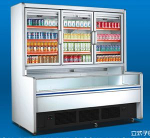 Vertical Primary and Secondary Refrigerator Chiller for Supermarket pictures & photos