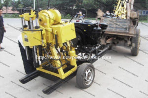 Portable Water Well Drilling Rig with Wheels (Hz-130Y)