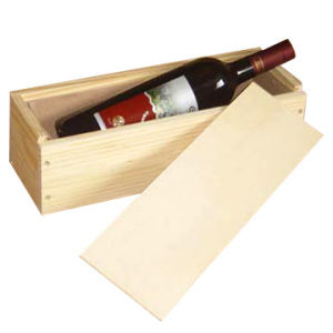 1 Single Bottle Hinged Wooden Wine Box pictures & photos