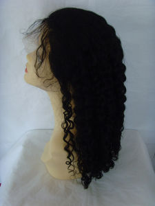 Afro Curl Black Color Synthetic Wig