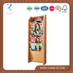 Wall Mounted 5-Pocket Wood Literature Rack pictures & photos