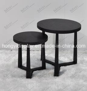 Black Color Round Table for Home Appliance, Cafe Furniture pictures & photos