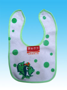 More Than 95% Cotton Double Printed Baby Saliva Animal Baby Bib