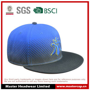 Black Brim Snapback Hat for Adults with 3D Embroidery in Front pictures & photos