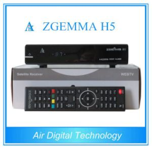 Official Softwares Supported Zgemma H5 Fatest CPU HDTV Receiver Hevc/H. 265 DVB-S2+T2/C Twin Tuners pictures & photos