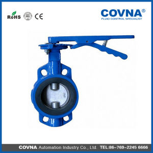 150lb Cast Iron 4 Inch Wafer Type Butterfly Valve pictures & photos