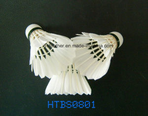 Goose/Duck Feather Badminton Shuttlecocks with 3 Layers Cork Wood Head pictures & photos