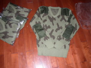 Military Camouflage Pullover Sweater