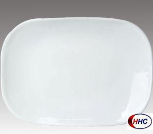 Opal Glassware Rectangular Plate 14′′
