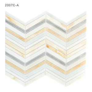 Color Beveled Pieces Art Glass Mosaic Linear Tile for Pool pictures & photos